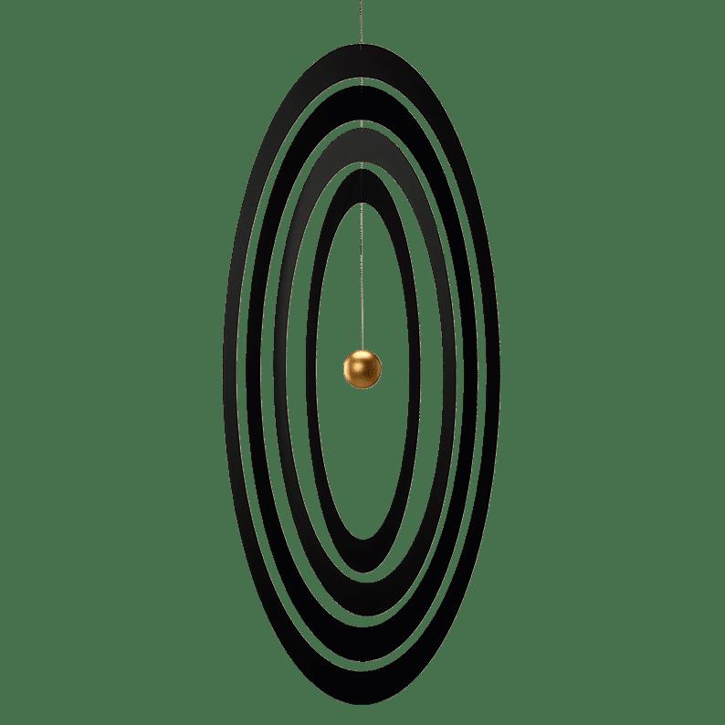 Science Fiction Ellipse vertical, gold
